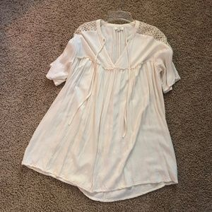 Umgee Cream Tunic Dress